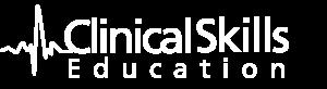 Clinical skills logo white